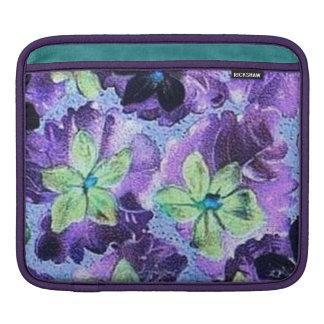 Retro Classy Sassy Sissy Vintage Violets Girly Sleeve For iPads