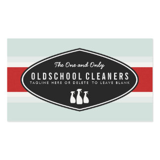 Retro Cleaning Business Spray Bottle Logo Business Card
