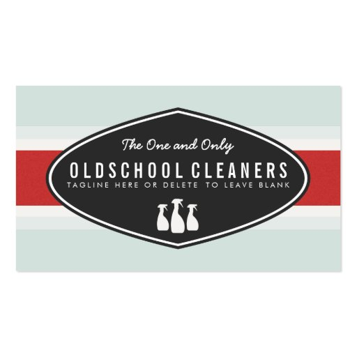 Retro Cleaning Business Spray Bottle Logo Business Card Templates