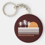 Retro Clearwater Beach Keychain