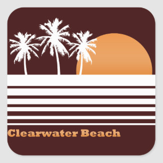 Retro Clearwater Beach Stickers