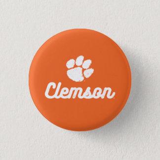 Retro Clemson Script Button