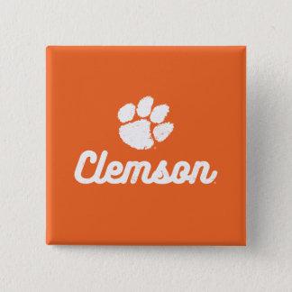 Retro Clemson Script Pinback Button