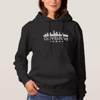 Retro Cleveland Skyline Hoodie