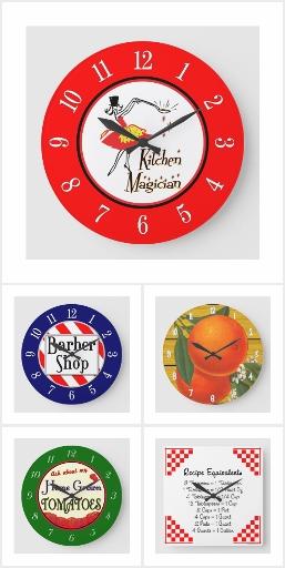 Retro Clocks, Kitchen Clocks and More