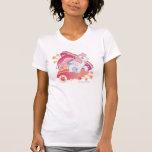 Retro Clouds  Design Tee Shirt