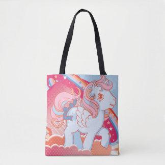 Retro Clouds  Design Tote Bag