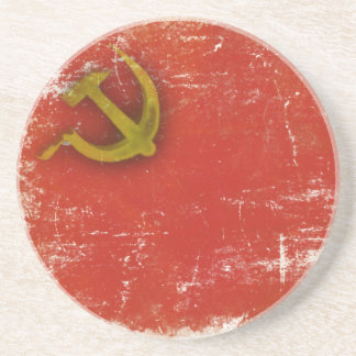 Retro Coaster with Dirty Old Soviet Union Flag