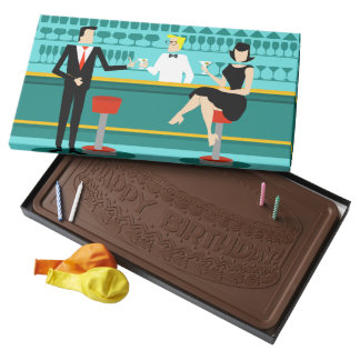 Retro Cocktail Lounge Box of Chocolate