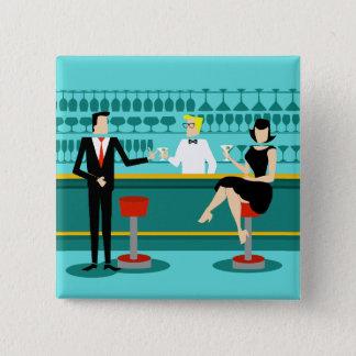 Retro Cocktail Lounge Button