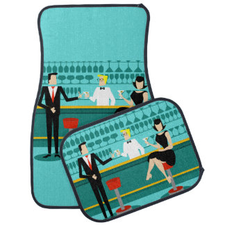Retro Cocktail Lounge Car Mats