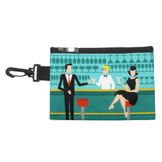 Retro Cocktail Lounge Clip On Accessory Bag