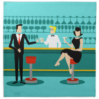 Retro Cocktail Lounge Cloth Napkins