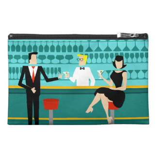 Retro Cocktail Lounge Cosmetic Bag