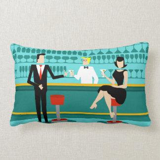 Retro Cocktail Lounge Lumbar Pillow