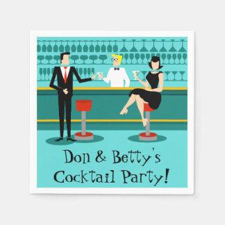 Retro Cocktail Lounge Paper Napkins
