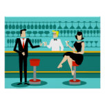 Retro Cocktail Lounge Poster