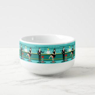 Retro Cocktail Lounge Soup Mug