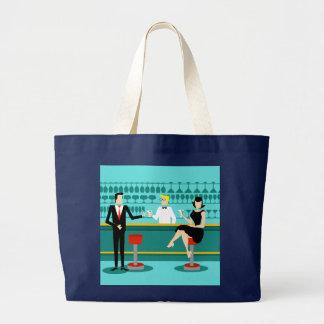 Retro Cocktail Lounge Tote Bag