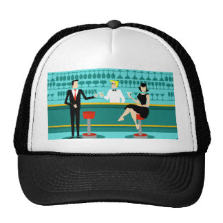 Retro Cocktail Lounge Trucker Hat