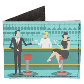 Retro Cocktail Lounge Tyvek Wallet