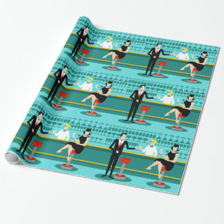 Retro Cocktail Lounge Wrapping Paper