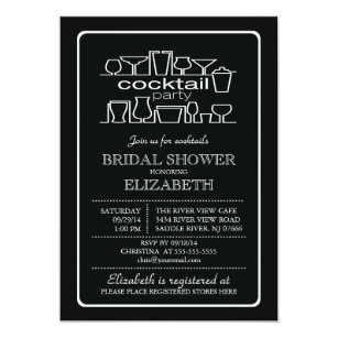 85ae4623d2dc66 Retro Cocktail Party Bridal shower Invitation