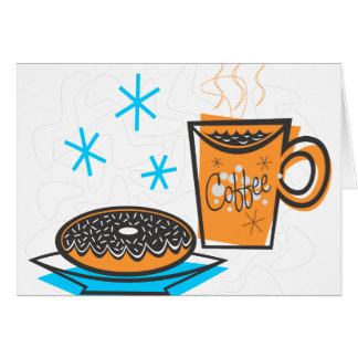 Retro Coffee and Doughnut Card