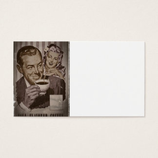 Retro Coffee and Flirting Business Card