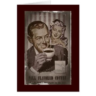 Retro Coffee and Flirting Card