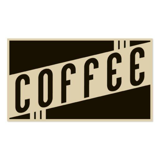 retro coffee business card