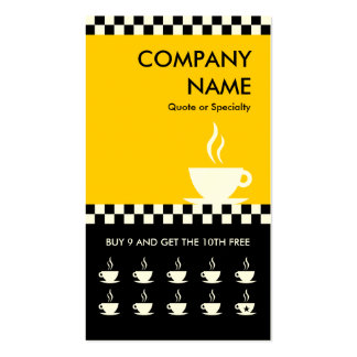 retro coffee checkers punchcard Double-Sided standard business cards (Pack of 100)