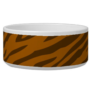 Retro Coffee Color Pattern Zebra Abstract Art Bowl