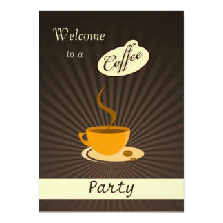 Retro coffee cup Party Invitation