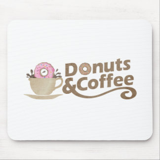 Retro Coffee & Donuts Mouse Pad