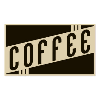 retro coffee Double-Sided standard business cards (Pack of 100)