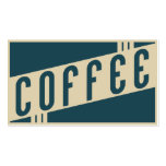 retro coffee loyalty punch card Double-Sided standard business cards (Pack of 100)