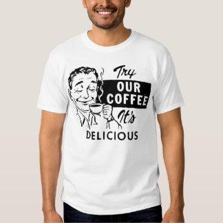 Retro Coffee Man Tee Shirt