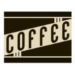 retro coffee postcard