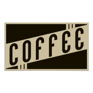 retro coffee posters
