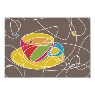 retro COFFEE shapes Card