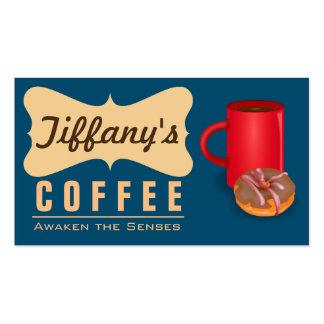 Retro Coffee Shop   Vintage Cafe   Coffeehouse Business Card