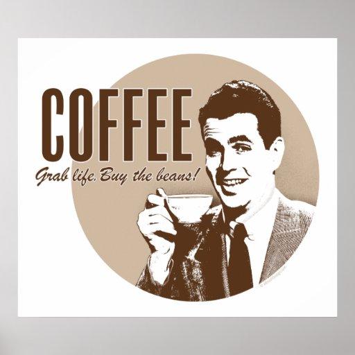 Retro Coffee (style 1) Poster