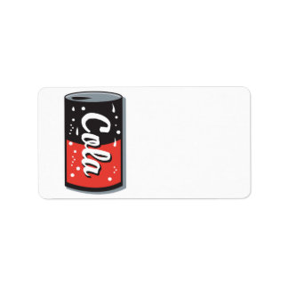 retro cola can design address label