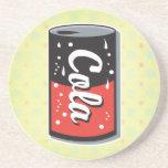 retro cola can design beverage coaster