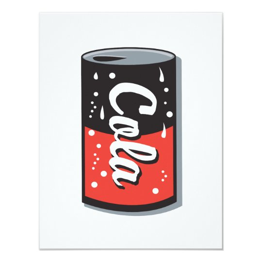 retro cola can design card