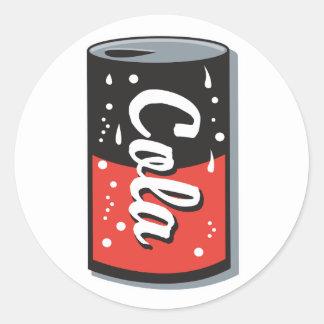 retro cola can design classic round sticker