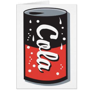 retro cola can design greeting card