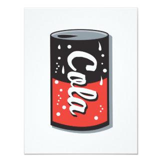 retro cola can design 4.25x5.5 paper invitation card