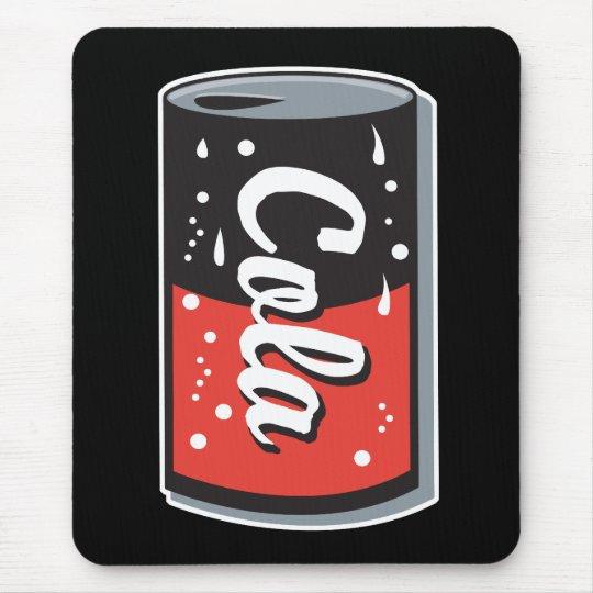 retro cola can design mouse pad